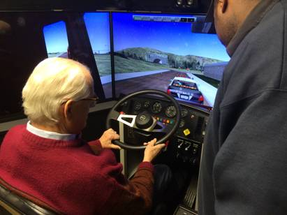 Pascrell-demonstrating-driving-simulator