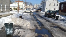 Henry Street in the city's 2nd Ward remains untouched by plows since the storm.