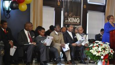 Some of the residents who were honored during Saturday's ceremony inside the City Council chamber.