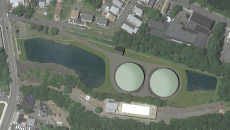 Rendering of the Stanley M. Levine Reservoir after the two containers installation.