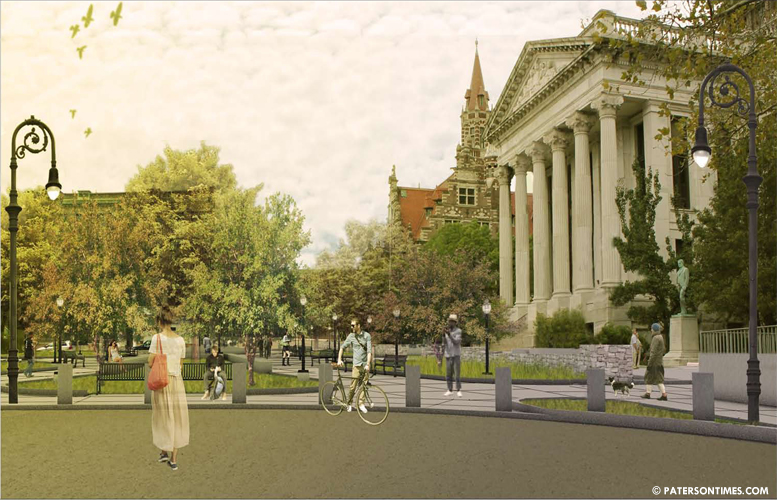 Artist rendering of what the plaza will look like after construction is finished at the end of 2014.