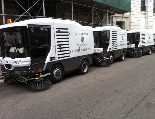 Ravo-5 sweepers parked on Washington Street adjacent to the City Hall Building.