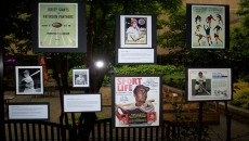 Public display of Paterson's sports legacy.