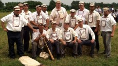 Atlantic Base Ball Club was established in 1997 as a re-creation of the 19th century Brooklyn Atlantics. Photo by Vicki Kowalczyk courtesy of Paterson Historic Preservation Commission.