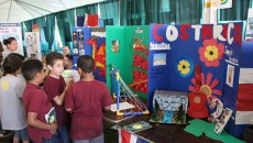 Students display their work at the festival.