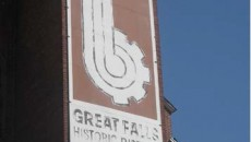 Deteriorated Great Falls Historic District logo.