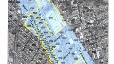 Boundaries of the South Paterson special improvement district marked in yellow.