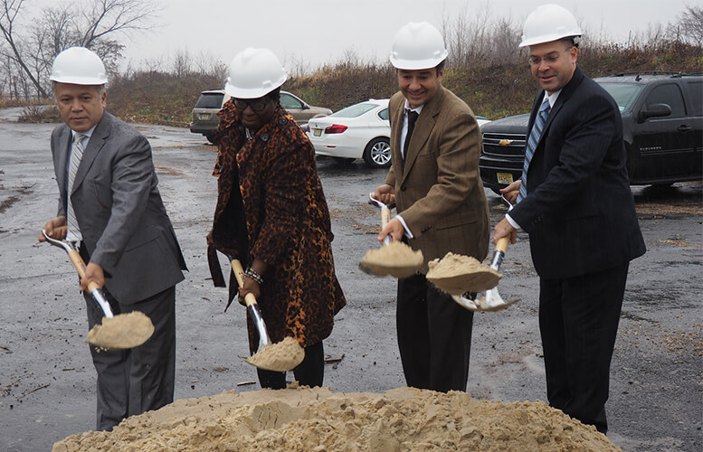 "Mayor Jose ""Joey"" Torres and others breaking ground on new Paterson vista project."