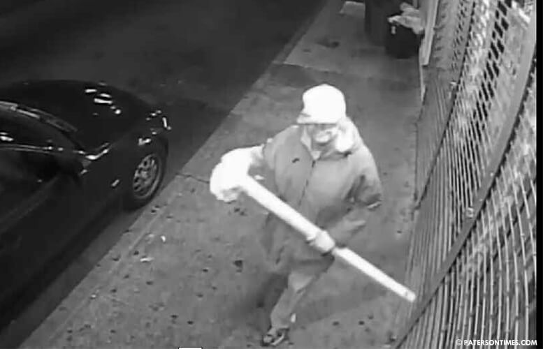 Surveillance camera image of the alleged vandal provided by Velez.
