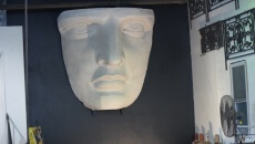 A replica of Lady Liberty's face.