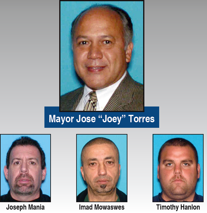 Paterson Mayor, Three DPW Supervisors Charged with Official Misconduct