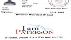 "Sample ""I am Paterson"" municipal identification card."