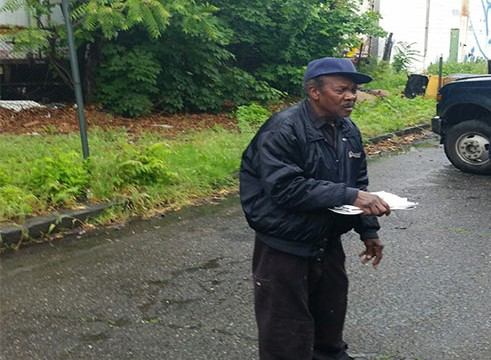 Paul Roseboro  accused of dumping some blocks from his house.