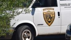 PAL van with broken driver side window.