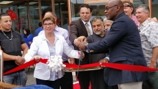 City officials cut ribbon on the new development.