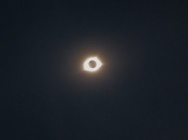 The total eclipse observed by the students.