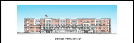 A concept rendering of the new Paterson middle school.