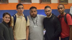 Veronica Aponte, Dewar Lausell, Anthony Vasquez, Porfirio Matos, and Bryant Polanco (left to right).