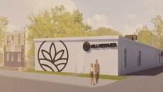 A rendering of the proposed dispensary at 80 Levine Street.
