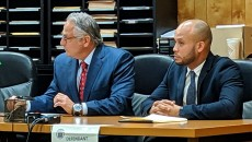 Urena, right, his attorney, Iacullo, left.