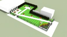 Bird's eye view rendering of the MLK Park without trees | Courtesy of Habitat for Humanity