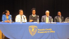 The panel of law enforcement members at the forum on hate crime held at the Passaic Community College on Dec. 4.