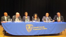 The panel of representatives of resource organizations at the recent forum on hate crimes held at the Passaic Community College.