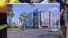 Rendering of the Ed Cotton Residences.