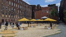 "So-called ""Paterson Beach"" at 24 1/2 Van Houten Street. It's open to the public from September 10 through October 18, 2020."