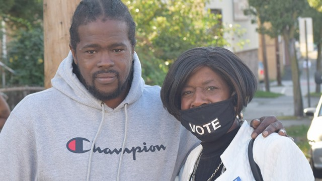 Qayyum Montgomery and councilwoman Ruby Cotton.