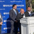 Lou Amodio, acting business administrator for the Passaic Valley Water Commission, announces the lifting of the boiled water advisory on Friday. He is flanked by mayors of Paterson, Clifton and Passaic City and commissioners from the PVWC.